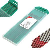 10шт 2% торированный WT20 красный ТИГ сварки вольфрамовым электродом 0.04inch х 6inch (1.0mmx150mm)