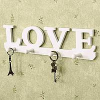 Творческий Урожай белый любовь крюк робы одежды держатель метизов вешалка декор стен