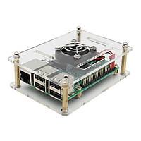 +V34 акрил кейс+пи вентилятор Raspberry 3 в 1 Model B пи 3