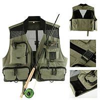 Maxcatch сетки нахлыстом жилет охота фотографирование жилет многофункциональный карман куртки
