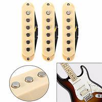 3 штук старинные чистые Звукосниматели гитары для Fender Stratocaster STRAT Сквайером