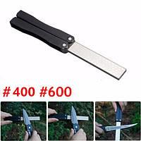 5-дюймовый двухсторонний складной карманный нож алмазный заточки камень Точильный 400 & зернистостью 600