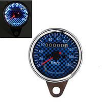 Универсальный мотоцикл LED спидометр одометр калибр синий с белой подсветкой