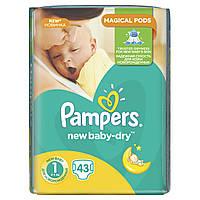 Подгузники Pampers New Baby-Dry Размер 1 (Для новорожденных) 2-5 кг, 43 подгузника, фото 1