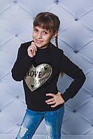 Толстовка детская с начесом черная
