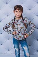 Трикотажная кофта для девочки с бабочками