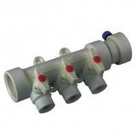 Коллектор с шаровыми  кранами 3-хода (40-20) PPR Koer