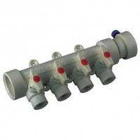 Коллектор с шаровыми  кранами 4-хода (40-20) PPR Koer