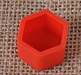 Захисні силіконові ковпачки на колісні гайки 21 мм червоні, фото 3