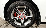 Захисні силіконові ковпачки на колісні гайки 21 мм червоні, фото 2