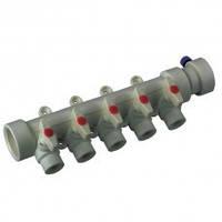 Коллектор с шаровыми  кранами 5-ходов (40-20) PPR Koer
