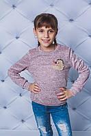 Трикотажная кофта для девочки под резинку