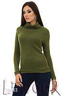 Теплый свитер реглан из ткани букле