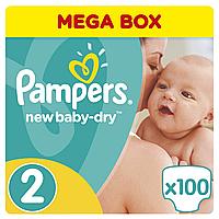 Подгузники Pampers New Baby-Dry Размер 2 (Mini) 3-6 кг, 100 подгузников