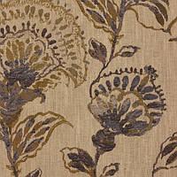 Ткань для штор и декора NEVADA-5400-003 с растительным рисунком