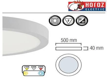 Светодиодная накладная панель круг 40W Caroline-40 Horoz Electric, фото 2