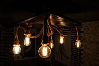 Подвесной светильник канаты в стиле лофт