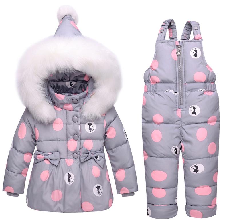 Теплий зимовий комбінезон для дівчаток 7326d7298eaa8