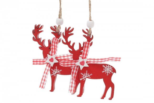 Новогоднее украшение Красный олень 2 шт, фото 2