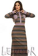 Ангоровое платье макси в стиле этно