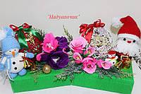 Новорічні подарунки (Іграшка ручної роботи та солодощі в кульці)