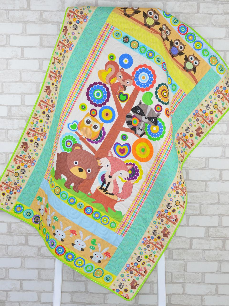 Детское одеяло-покрывало «Лесное дерево», Loskutini