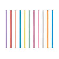 Трубочки Фреш 25 см 135 шт кольорова товста PapStar