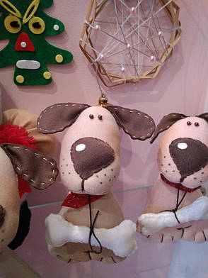 Мягкая игрушка Handmade Собака, фото 2
