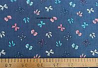 Джинсовая ткань рубашечная (средне.синий)