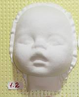 Пластиковая маска № 1.2 ( размер 150*95 мм)  – основа для лица текстильной куклы, рост 45 см.