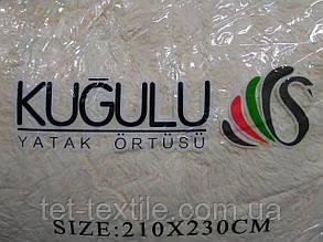 """Одеяло с длинным ворсом """"Мишка"""" бежевое (210х230), фото 2"""