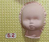 Пластиковая маска №5,2(размер 68*50мм)  – основа для лица текстильной куклы