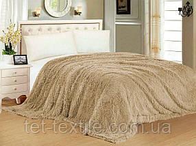 """Одеяло с длинным ворсом """"Мишка"""" бежевое (210х230)"""