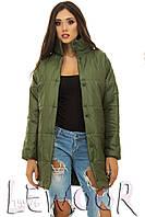 Теплая молодежная куртка на синтепоне