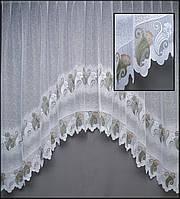 Тюль короткая аркой на карниз 2 метра