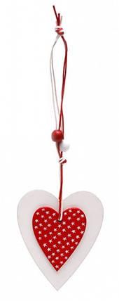 Декоративная подвеска Два Сердца, фото 2