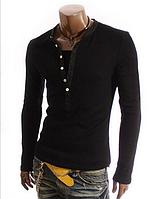 Мужской свитшот, свитер с V-образным вырезом M, L, XL, XXL черный код 5