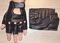 Перчатки без пальцев для водителей из овечьей кожи, фото 1