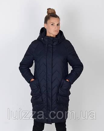 Куртка -парка кокон 46-52 р  меланж, фото 2