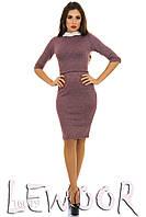 Модное офисное платье с рукавом по локоть