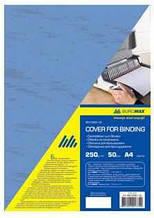 Обкладинки картонна під шкіру Buromax, А4, 250г/м2, синя