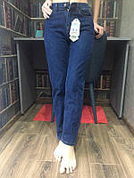 Женские стильные джинсы /Мом 100%коттон /синего цвета оптом