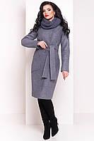 Зимнее пальто с хомутом Габриэлла 4154