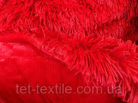 """Одеяло с длинным ворсом """"Мишка"""" красное (210х230), фото 3"""