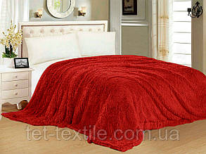 """Одеяло с длинным ворсом """"Мишка"""" красное (210х230), фото 2"""
