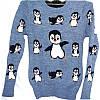 Свитер с пингвинами женский опт Одесса