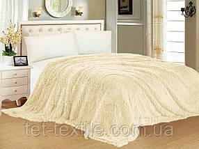 """Одеяло с длинным ворсом """"Мишка"""" молочное (210х230)"""