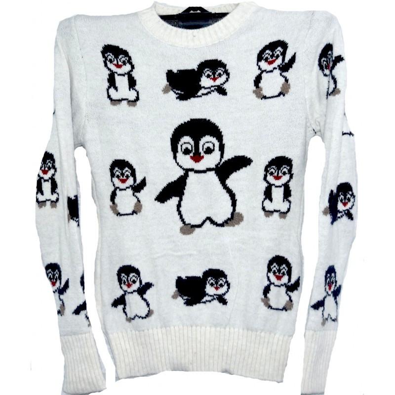 4df5c2ab5e82 Купить Свитер с пингвинами женский вязаный опт Распродажа склада ...
