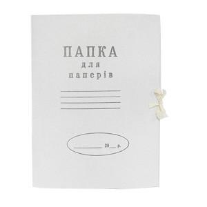 Папка картонная на завязках картон
