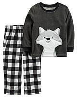 """Пижама флисовая для мальчика 2в1 Carter's """"Лис"""" р.7"""